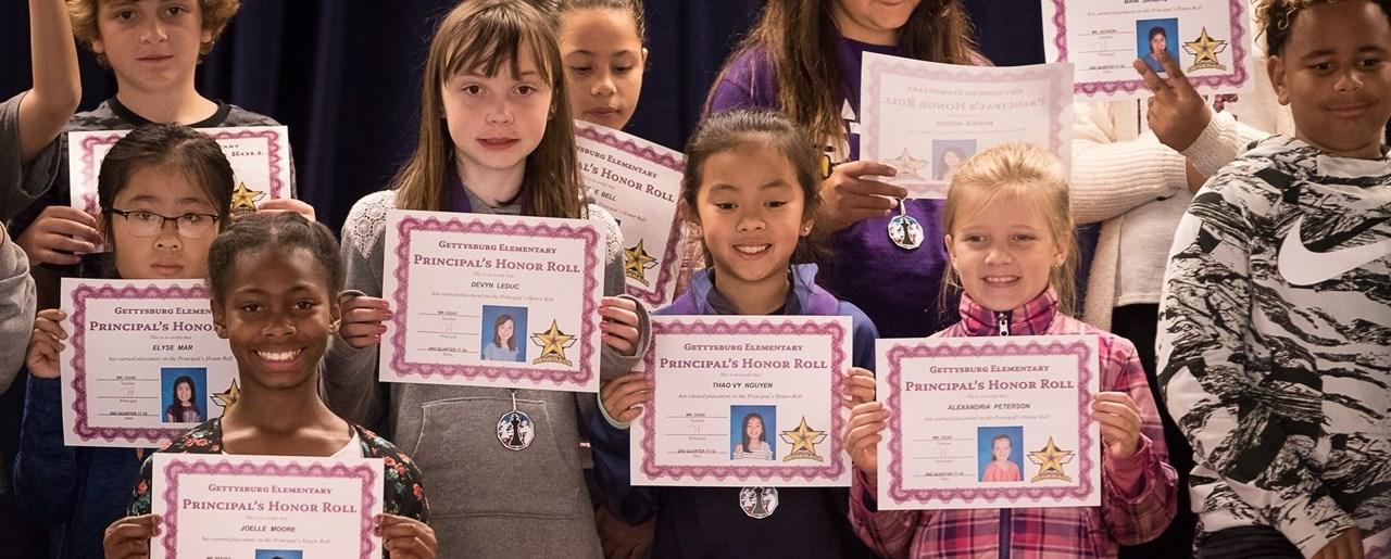 Gettysburg student awards